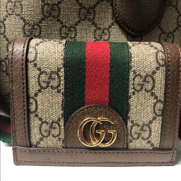 4dfac653b17c6b Gucci Bags | Ophidia Gg Supreme Flap Card Case Wallet | Poshmark